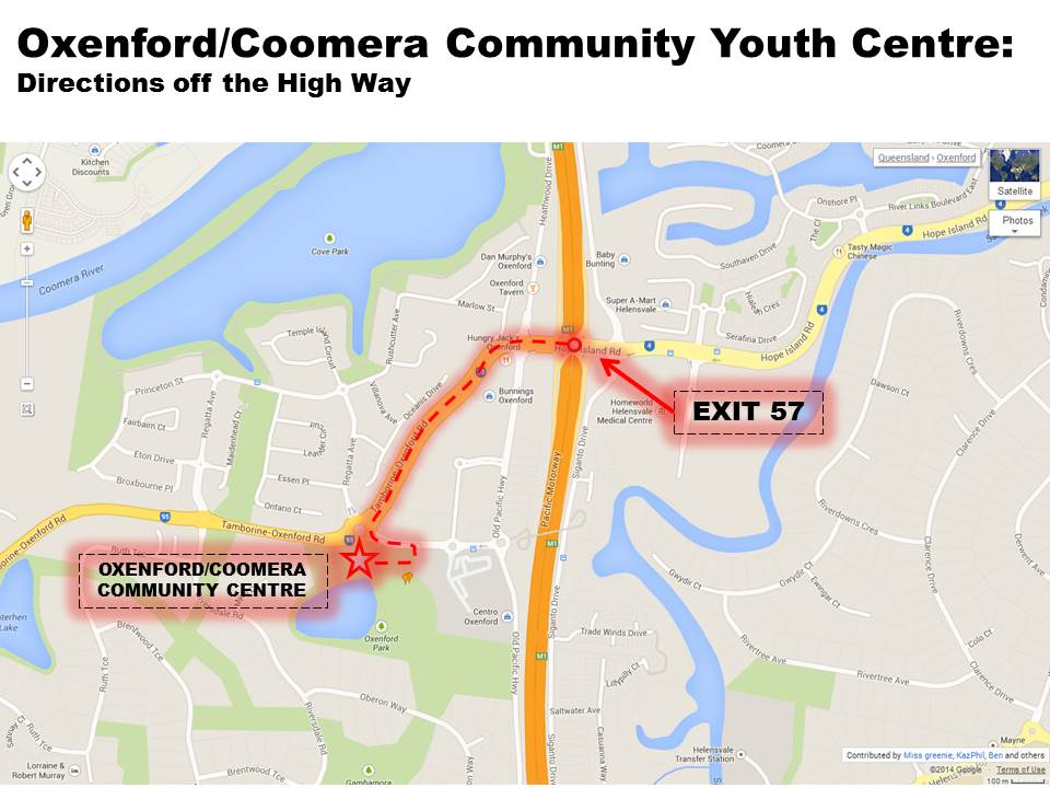 Community Centre Directions from High Way